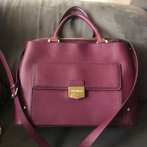Burgundy Steve Madden purse
